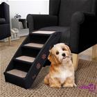 vidaXL Taitettavat koiran portaat musta 62x40x49,5 cm