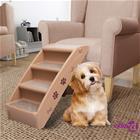 vidaXL Taitettavat koiran portaat ruskea 62x40x49,5 cm