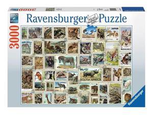 Ravensburger Eläinpostimerkit -palapeli, 3000 palaa