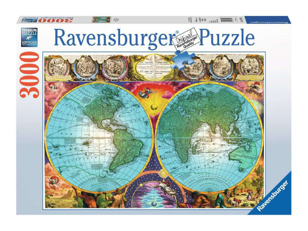 Ravensburger Antiikkikartta -palapeli, 3000 palaa