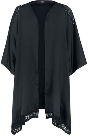 Black Premium by EMP - Kimono mit Spitze - Kylpytakki - Naiset - Musta
