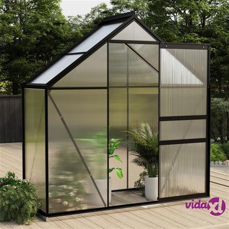 vidaXL Kasvihuone antrasiitti alumiini 1,33 m²