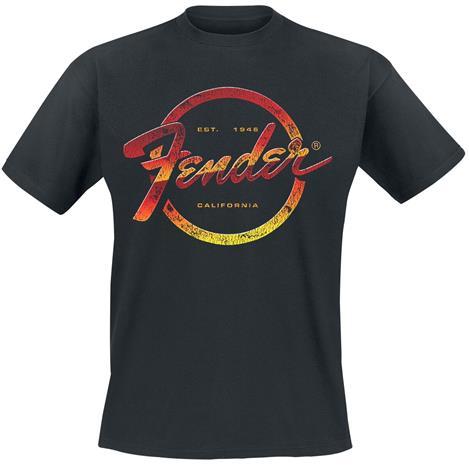 Fender - Est. 1945 - T-paita - Miehet - Musta, Miesten paidat, puserot ja neuleet