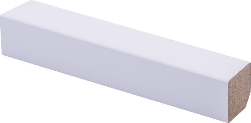 Varjolista Maler 22 x 22 x 2750 mm MDF puhdas valkoinen