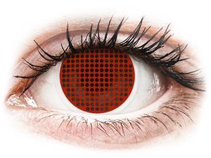 ColourVUE Crazy Lens Red Screen - piilolinssit ilman näönkorjausta (2 kpl)