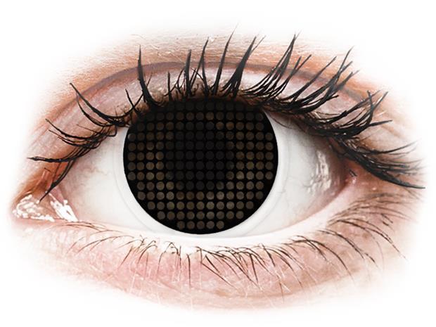 ColourVUE Crazy Lens Black Screen - piilolinssit ilman näönkorjausta (2 kpl)