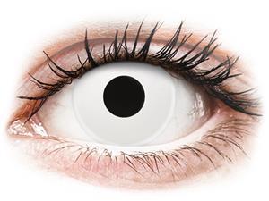 ColourVUE Crazy Lens WhiteOut - piilolinssit ilman näönkorjausta (2 kpl)