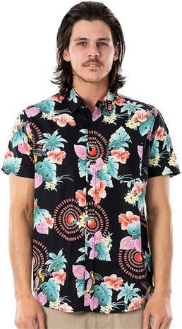 Rip Curl Beach Party Short Sleeve Shirt Men, black