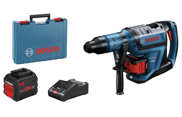 Bosch GBH 18V-45C Professional (0611913002) 18V 2x12Ah SDS-max, akkuporavasara ja laturi GAL18V-160