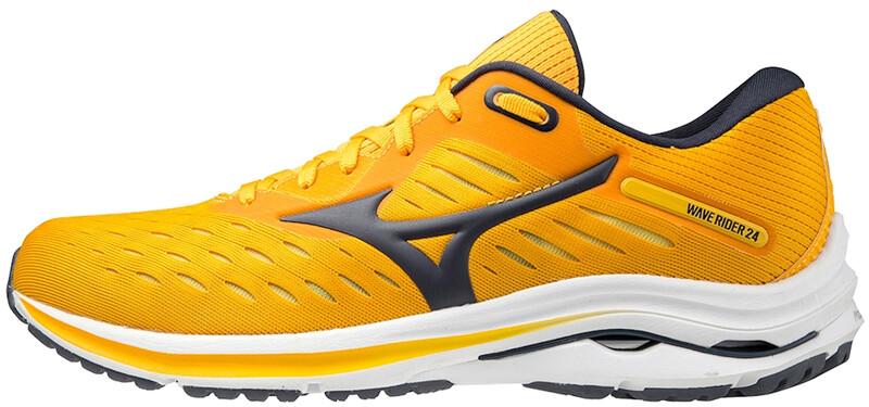 Mizuno Wave Rider 24 Shoes Men, saffron/phantom