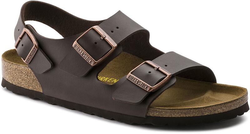 Birkenstock Milano Sandals Birko-Flor Regular, dark brown