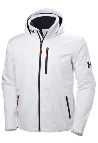 Helly Hansen Crew Hooded Midlayer Jacket Men, white