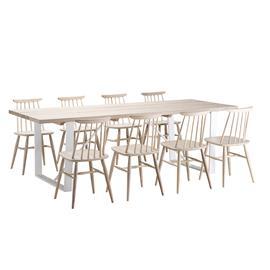 Old Oak, Aino Ruokapöytä 95x280cm ja 8 tuolia