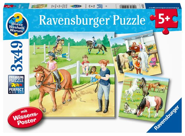 Ravensburger A Day At The Stables 3x49p palapeli