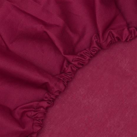 KOODI muotoonommeltu lakana, viininpunainen, 140 x 200 cm
