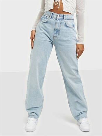 Gina Tricot 90s High Waist Jeans Sky Blue