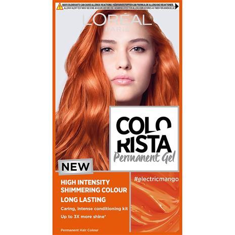 L'Oréal Paris Colorista Magnetic Long-Lasting Permanent Hair Dye Gel - Electric Mango 1ml