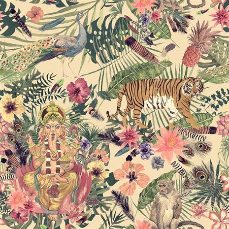 Digiprint Ganesha Tiger 150 cm trikookangas