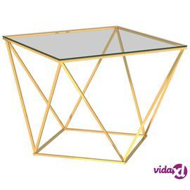 vidaXL Sohvapöytä kultainen 80x80x45 cm ruostumaton teräs