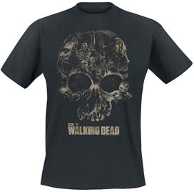 The Walking Dead - Skull - T-paita - Miehet - Musta