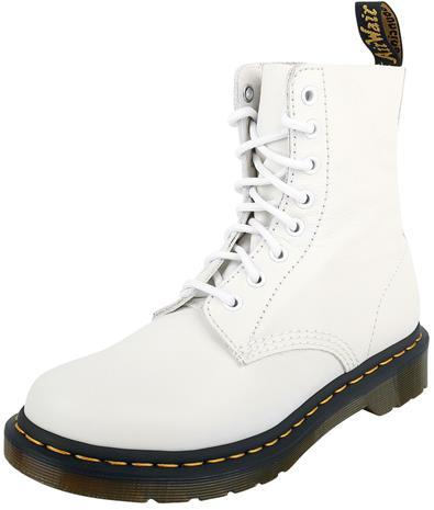 Dr. Martens - 1460 Pascal Optical White Virginia 8 Eye Boot - Varsikengät - Naiset - Valkoinen