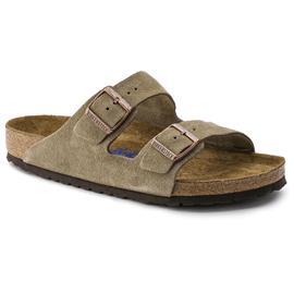 Birkenstock Arizona Sandals Suede Leather Soft Footbed Regular, taupe