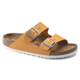 Birkenstock Arizona Sandals Nubuck Leather Soft Footbed Narrow Women, orange