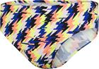 speedo 8cm Allover Briefs Men, glitchstrike siren red/blue flame/fluo yellow, Uintitarvikkeet