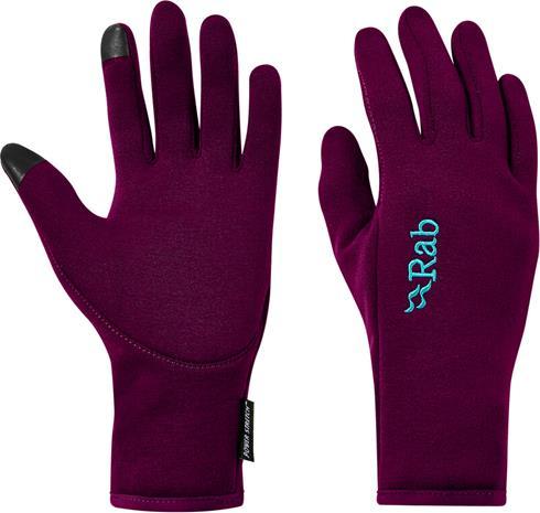 Rab Power Stretch Contact Gloves Women, berry, Naisten hatut, huivit ja asusteet