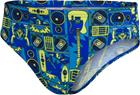 speedo Allover Briefs Boys, dj black/lapis/light adriatic, Uintitarvikkeet