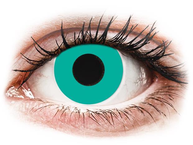 Gelflex CRAZY LENS - Solid Turquoise - piilolinssit ilman näönkorjausta (2 kpl)