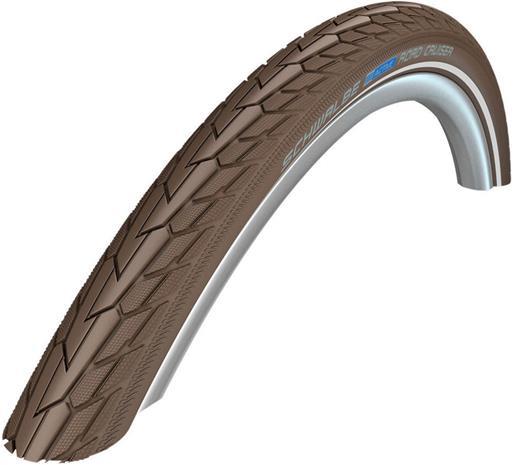 "SCHWALBE Road Cruiser Wired-on Tire 28"""" K-Guard Active Reflex, coffee"