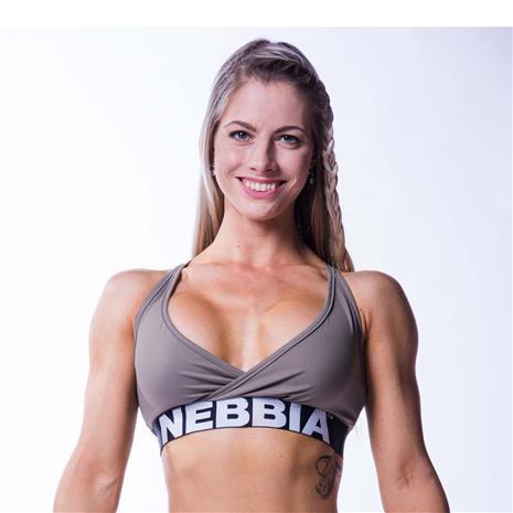 NEBBIA Open Back Bra, Mocha