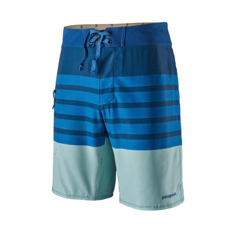 "Patagonia Stretch Planing Boardshorts 19"""" Men, mid stripe/superior blue"