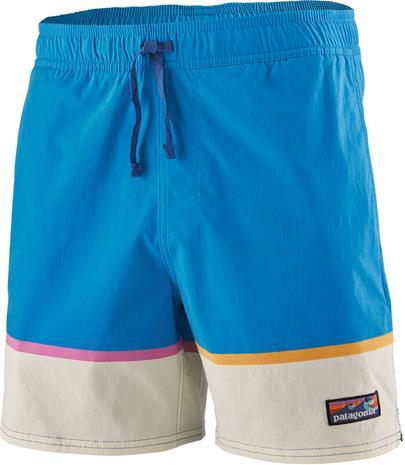 "Patagonia Stretch Wavefarer Volley Shorts 16"""" Men, bottom leg stripe/joya blue"