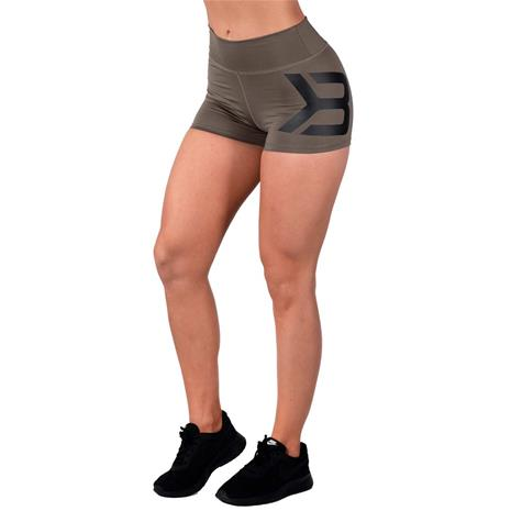 Better Bodies Gracie Hotpants, Wash Green, L