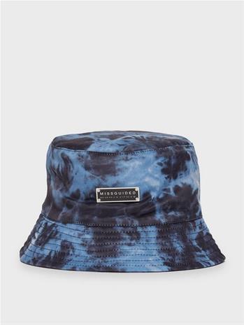 Missguided Tie Dye Branded Bucket Hat, Naisten hatut, huivit ja asusteet
