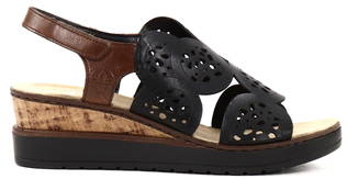 Rieker Kiilasandaalit V38F7-00 musta, Naisten kengät