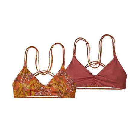 Patagonia Naisten Käännettävät Seaglass Bay Bikinit, Field Floral: Desert Orange / XS, Naisten uimapuvut ja bikinit