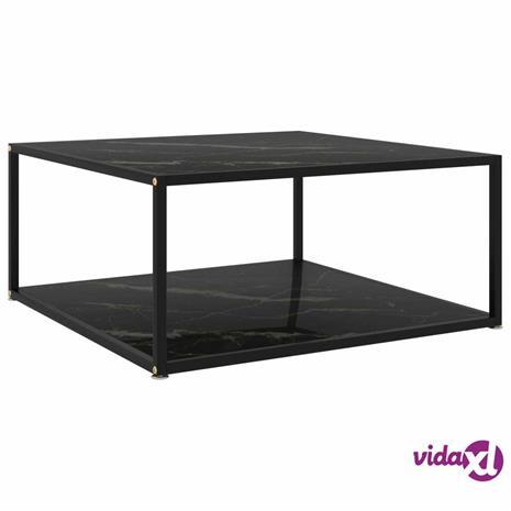 vidaXL Sohvapöytä musta 80x80x35 cm karkaistu lasi