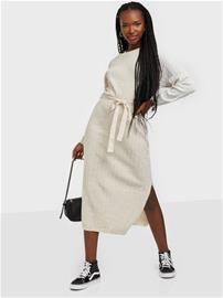 Only Onltessa L/S Dress Ex Knt Pumice Stone