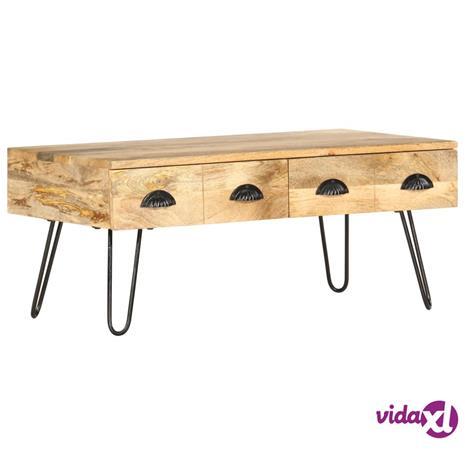 vidaXL Sohvapöytä 90x50x39 cm täysi mangopuu
