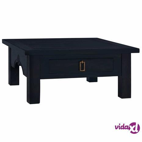 vidaXL Sohvapöytä vaalea musta kahvi 68x68x30 cm täysi mahonki