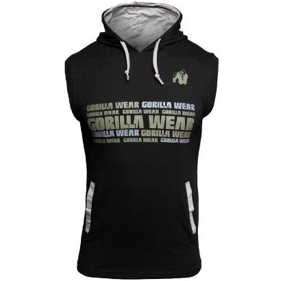 Gorilla Wear Melbourne SL Hooded T-Shirt, Black, M
