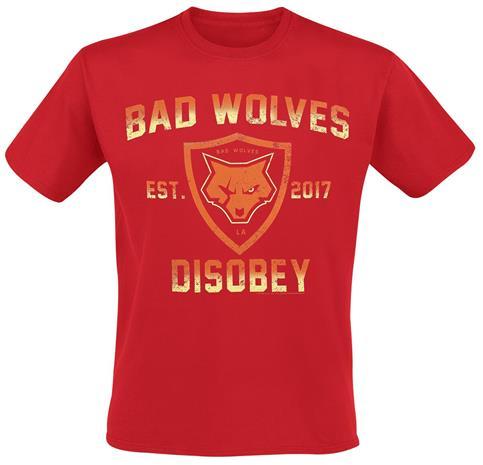 Bad Wolves - Disobey - T-paita - Miehet - Punainen
