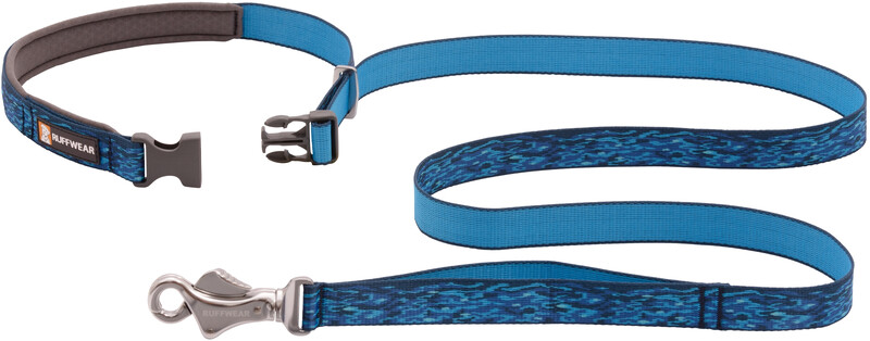 Ruffwear Flat Out Collar, oceanic distortion