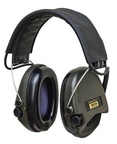 Sordin Supreme Pro X kuulosuojaimet, leather band, vihreä