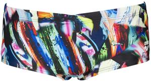 arena Colourful Paintings Low Waist Shorts Men, black/multi