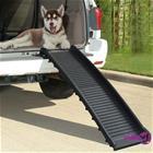 vidaXL Taitettava koiran ramppi musta 155,5x40x15,5 cm