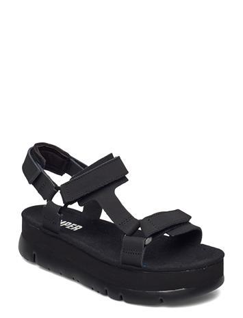 Camper Oruga Up Shoes Summer Shoes Flat Sandals Musta Camper BLACK